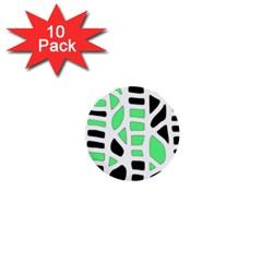 Light green decor 1  Mini Buttons (10 pack)