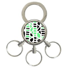 Light green decor 3-Ring Key Chains
