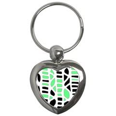 Light green decor Key Chains (Heart)