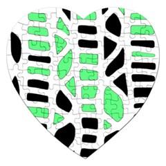 Light green decor Jigsaw Puzzle (Heart)
