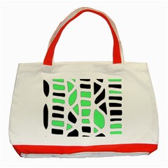 Light green decor Classic Tote Bag (Red)
