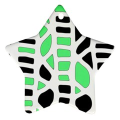 Light green decor Star Ornament (Two Sides)