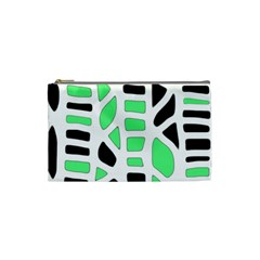 Light green decor Cosmetic Bag (Small)