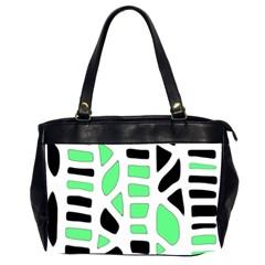 Light green decor Office Handbags (2 Sides)