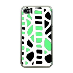 Light green decor Apple iPhone 4 Case (Clear)