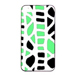 Light green decor Apple iPhone 4/4s Seamless Case (Black)