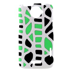 Light green decor HTC One X Hardshell Case