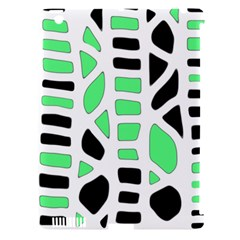 Light green decor Apple iPad 3/4 Hardshell Case (Compatible with Smart Cover)