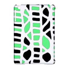 Light green decor Apple iPad Mini Hardshell Case (Compatible with Smart Cover)
