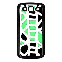 Light green decor Samsung Galaxy S3 Back Case (Black)
