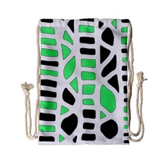 Light green decor Drawstring Bag (Small)