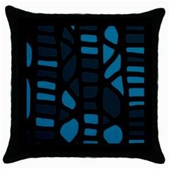 Deep blue decor Throw Pillow Case (Black)