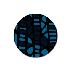 Deep blue decor Rubber Round Coaster (4 pack)