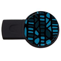 Deep blue decor USB Flash Drive Round (2 GB)