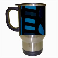 Deep blue decor Travel Mugs (White)