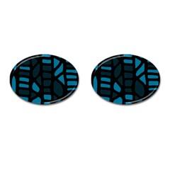 Deep blue decor Cufflinks (Oval)