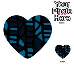 Deep blue decor Multi-purpose Cards (Heart)