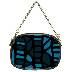 Deep blue decor Chain Purses (Two Sides)
