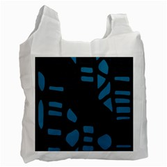 Deep blue decor Recycle Bag (One Side)