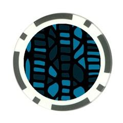 Deep blue decor Poker Chip Card Guards (10 pack)