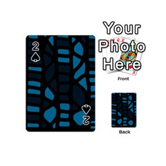 Deep blue decor Playing Cards 54 (Mini)