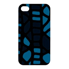 Deep blue decor Apple iPhone 4/4S Premium Hardshell Case