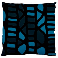 Deep blue decor Large Cushion Case (Two Sides)