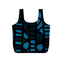 Deep blue decor Full Print Recycle Bags (S)