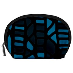 Deep blue decor Accessory Pouches (Large)