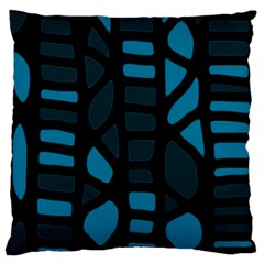 Deep blue decor Large Flano Cushion Case (Two Sides)