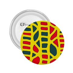 Yellow, green and red decor 2.25  Buttons