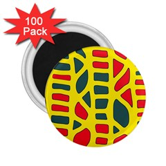 Yellow, green and red decor 2.25  Magnets (100 pack)
