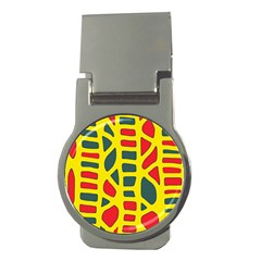Yellow, green and red decor Money Clips (Round)