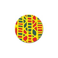Yellow, green and red decor Golf Ball Marker (10 pack)