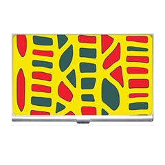 Yellow, green and red decor Business Card Holders