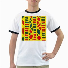 Yellow, green and red decor Ringer T-Shirts