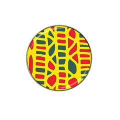 Yellow, green and red decor Hat Clip Ball Marker (4 pack)