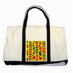 Yellow, green and red decor Two Tone Tote Bag