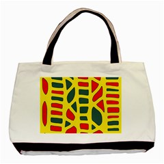 Yellow, green and red decor Basic Tote Bag (Two Sides)