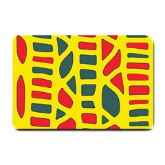 Yellow, green and red decor Small Doormat