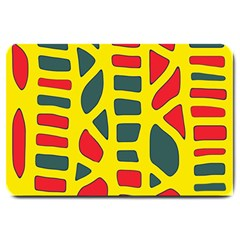 Yellow, green and red decor Large Doormat