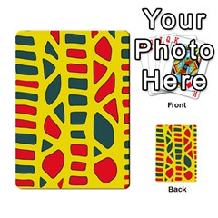 Yellow, green and red decor Multi-purpose Cards (Rectangle)