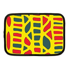 Yellow, green and red decor Netbook Case (Medium)
