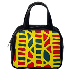 Yellow, green and red decor Classic Handbags (One Side)