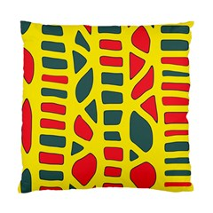 Yellow, green and red decor Standard Cushion Case (One Side)