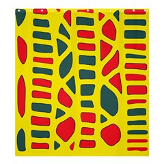 Yellow, green and red decor Shower Curtain 66  x 72  (Large)