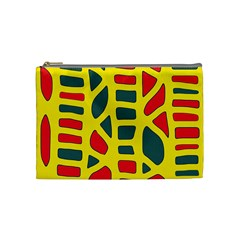 Yellow, green and red decor Cosmetic Bag (Medium)