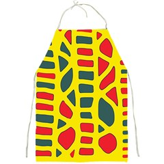 Yellow, green and red decor Full Print Aprons
