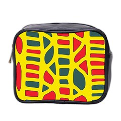 Yellow, green and red decor Mini Toiletries Bag 2-Side