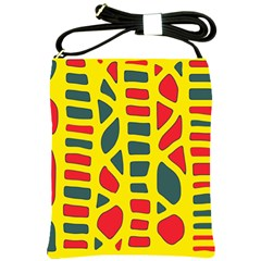 Yellow, green and red decor Shoulder Sling Bags